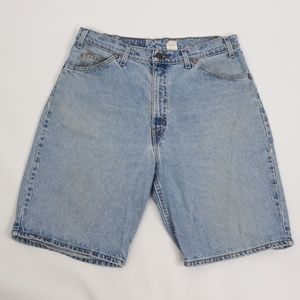 Vintage Levis 550 Relaxed Denim Jean Shorts Blue